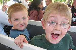 Jack & Gryffon on the tram
